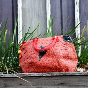 rubber chicken purse hen bag handbag