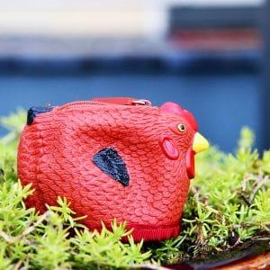 rubber chicken coin purse wallet