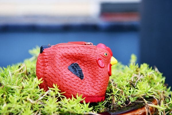 rubber chicken coin purse wallet