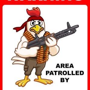 warning attack chicken
