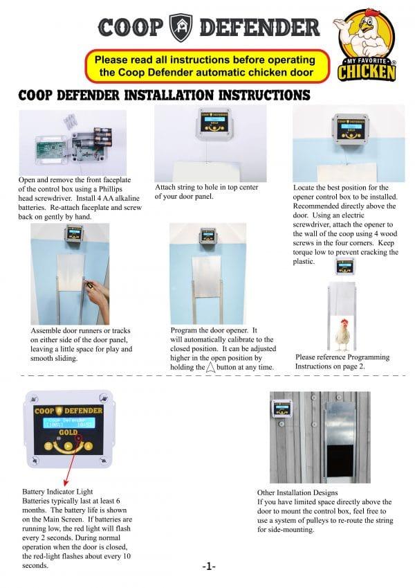 coop defender instructions