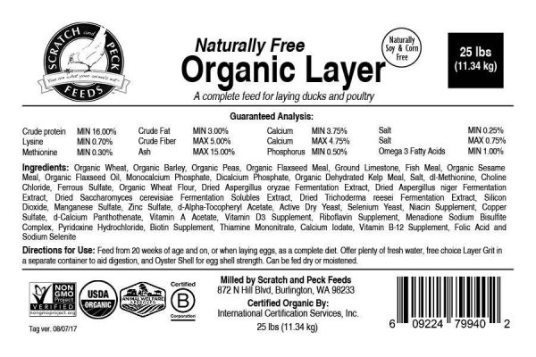 organic poultry layer feed instructions