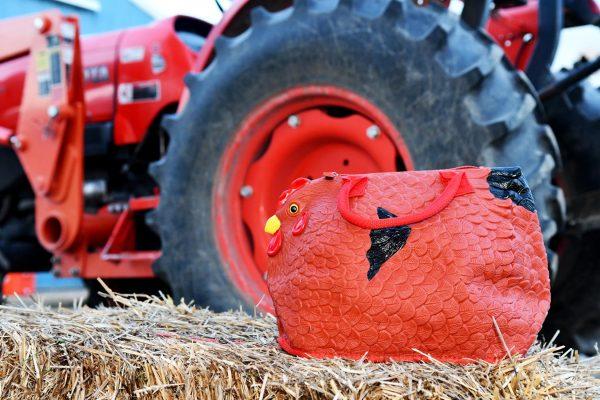 hen bag tractor